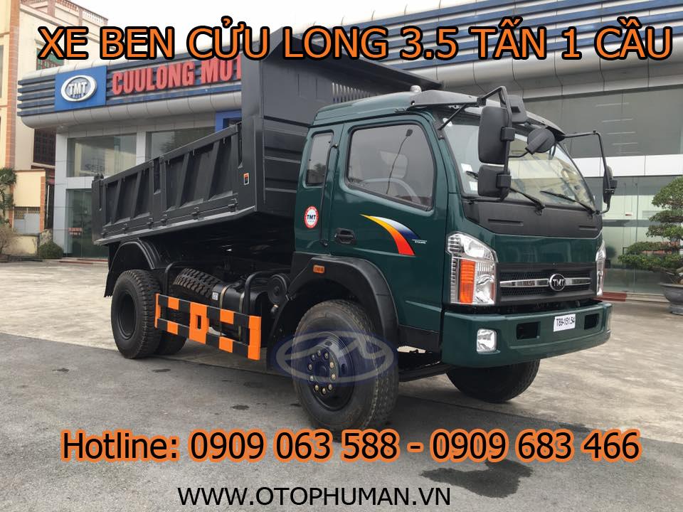 xe tải ben ( ben tự đổ ) cửu long tmt 3.5 tấn / 3500kg/ 4 tấn đời 2016 động cơ KC8535D2