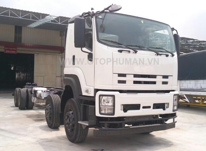 xe tải thùng mui bạt 4 chân 18 tấn lắp ráp theo công nghệ isuzu giá rẻ