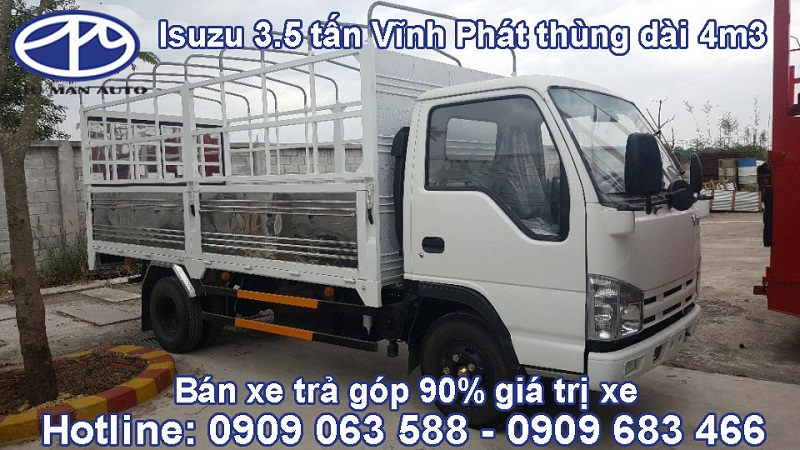 Tìm mua xe tải thùng 3500kg giá tốt - isuzu 3500kg thùng kín, isuzu 3t5 mui bạt tốt