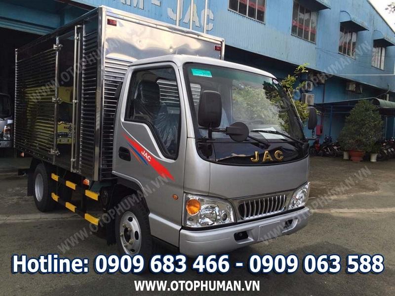 xe tải 2.5 tấn giá rẻ - bán xe tải jac 2.4 tấn/ 2t4 động cơ isuzu mới 100% giá tốt