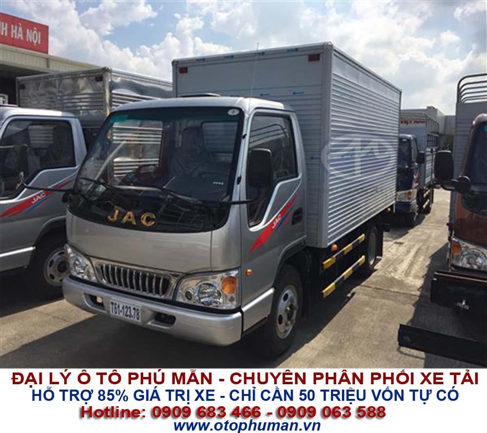 xe tải thùng 2.5 tấn giá rẻ, hạ tải vào được thành phố  - xe tải jac 2.4 tấn = jac 2t4