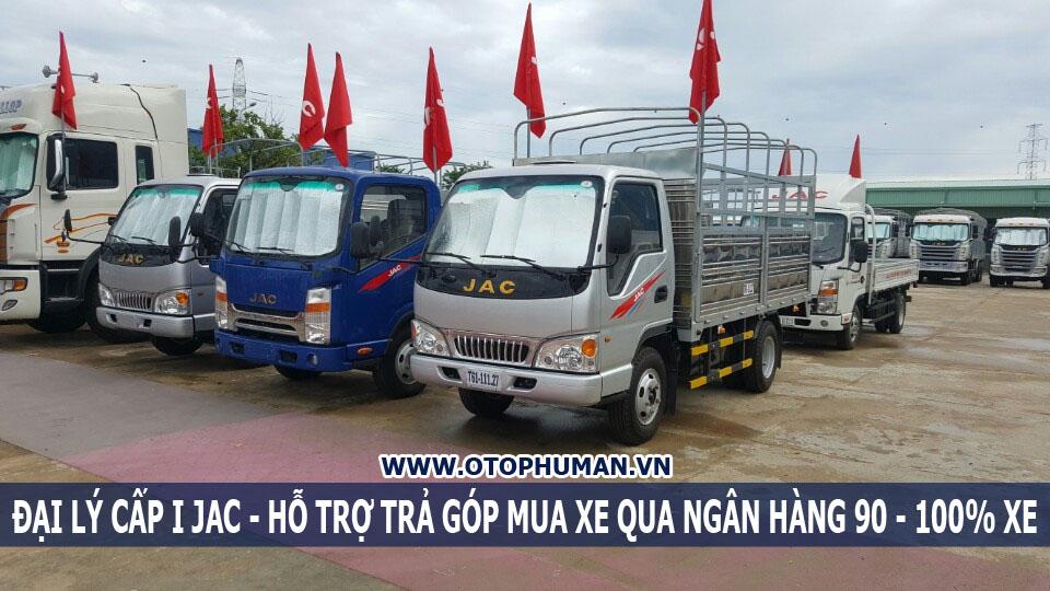 xe tải 2 tấn rưỡi vào thành phố không cấm tải - jac 2.4 tấn hạ tải giá rẻ