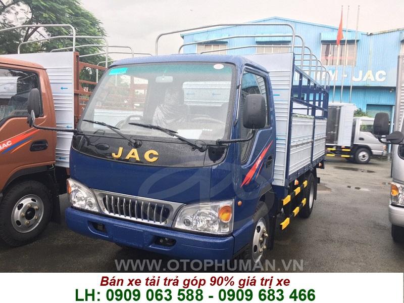 jac 2t4 - jac 2.4 tấn mui bạt giá rẻ - xe tải jac 2.4 tấn thùng dài 3m7 hạ tải vào được thành phố