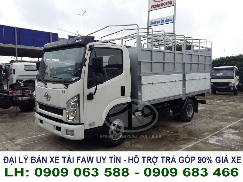 Cần tìm mua xe tải 6 tấn giá tốt - xe tải faw 6 tấn thùng mui bạt đời 2015 mới 100%